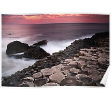 Giant's Causeway - Sunset Poster