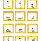 Surya Nanaskar-A The Sun Salutation by Francesca Romana Brogani