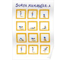 Surya Nanaskar-A The Sun Salutation Poster