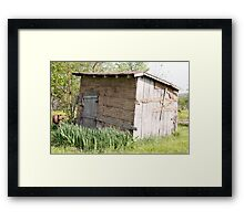 Grandma's old Smokehouse Framed Print