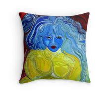 Blue, I am Blue, Just as Blue as I can be Throw Pillow
