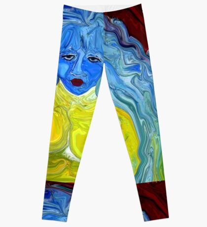 Blue, I am Blue, Just as Blue as I can be Leggings