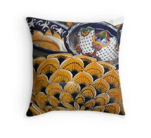 Colorful Bowls Throw Pillow