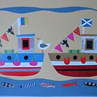 Jolly Fishing Boats by Amanda White