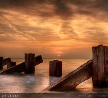 End of Day - West Coast of Wales by Beverly Cash