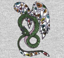 Serpent with Wings of Eyes Baby Tee