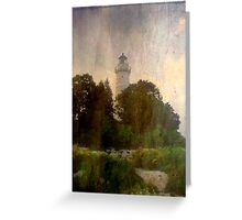 One of many beautiful lighthouses in Door County, WI ©  Greeting Card