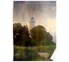 One of many beautiful lighthouses in Door County, WI ©  Poster