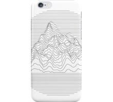 Mountain lines iPhone Case/Skin