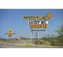 Route 66 - New Mexico Whiting Brothers Gas Photographic Print