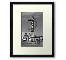 Route 66 - Grants Cafe Framed Print