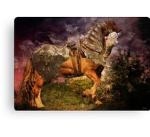 Big Max, Dressed To Do Battle Canvas Print