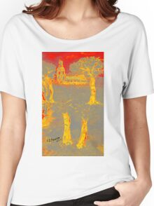 Yellow shadows Women's Relaxed Fit T-Shirt