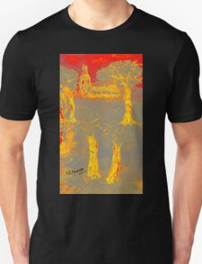 Yellow shadows Unisex T-Shirt
