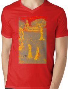 Yellow shadows Mens V-Neck T-Shirt