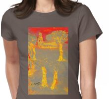 Yellow shadows Womens Fitted T-Shirt