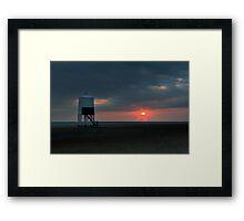 Burnham On Sea LightHouse Framed Print
