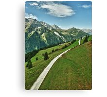 Hiking in Tirol Canvas Print