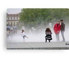 Fountain Fun Canvas Print