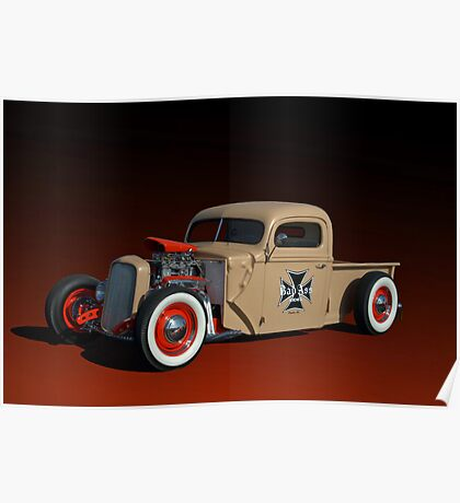 1946 Ford Pickup with 32' Ford Radiator Poster