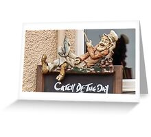 Catch Of The Day   Beer Devon Greeting Card