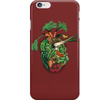 Vegetables are good for your heart iPhone Case/Skin