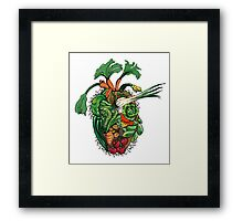 Vegetables are good for your heart Framed Print