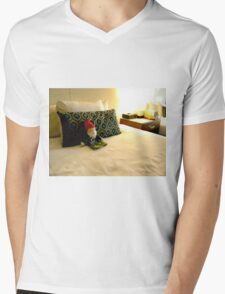 Hotel Gnome Mens V-Neck T-Shirt