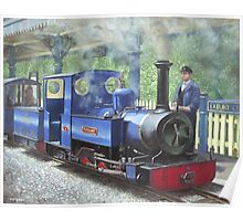 exbury steam locomotive with driver Poster