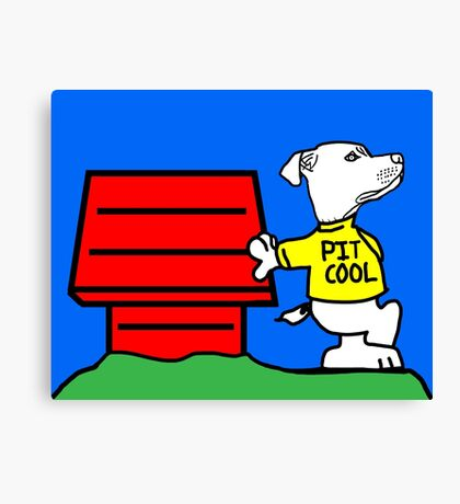 PIT COOL PIT BULL LOGO BY URB SUB Canvas Print