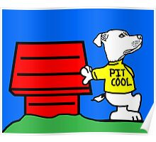 PIT COOL PIT BULL LOGO BY URB SUB Poster