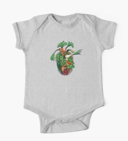 Vegetables are good for your heart One Piece - Short Sleeve