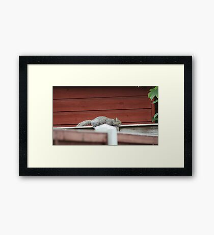 IM SO TURED I NEED TO LIEDOWN Framed Print