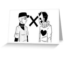 Batter and Zacharie  Greeting Card