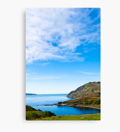 Landscape, Maclean`s Nose, Loch Sunart, Ardnamurchan, Scotland Canvas Print
