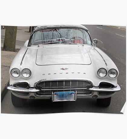 Old 1962 Corvette Front Poster