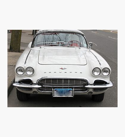 Old 1962 Corvette Front Photographic Print