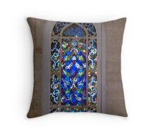 Mosque window Throw Pillow