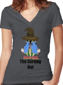 Vivi's Sorting Hat Women's Fitted V-Neck T-Shirt