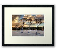 Sunset At Lake Poorrarecup # 2 Framed Print