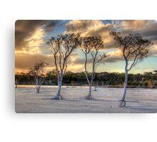 Sunset At Lake Poorrarecup # 2 Canvas Print