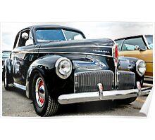 Classic Black Studebaker Poster