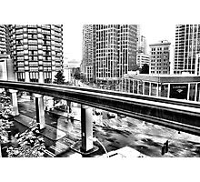 Dowtown Seattle - From The Westlake Mall Food Court Photographic Print