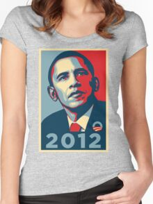 Obama 2012 Election Poster T-Shirt Women's Fitted Scoop T-Shirt