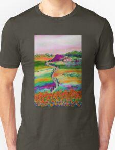 Tuscan countryside Unisex T-Shirt