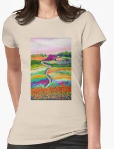 Tuscan countryside Womens Fitted T-Shirt