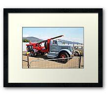 Hobart Show Tasmania - White WC20 Freighter Log Jinker Framed Print