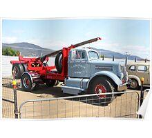 Hobart Show Tasmania - White WC20 Freighter Log Jinker Poster