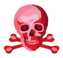 Skulduggery Red on White by raymondwarenyc