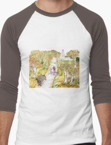 A stroll in autumn Men's Baseball ¾ T-Shirt